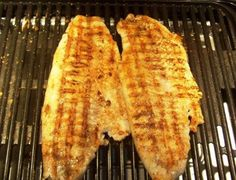 Blackened Walleye Grilled Recipe by LOVETOLEARN via SparkPeople grilling recipes;recipes for grilling;grilling tip; Pickerel Recipes, Walleye Fish Recipes, Grilled Fish Recipes, Whole30 Fish Recipes, Healthy Grilling Recipes, Easy Fish Recipes, Cooking Recipes, Seafood Recipes, Grilled Food