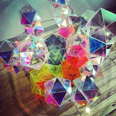 Glass Prism Table Reflects Dazzling Rainbows - My Modern Metropolis