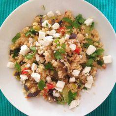 Vegetarian Bulgur Salad. Perfect after a sunny day!