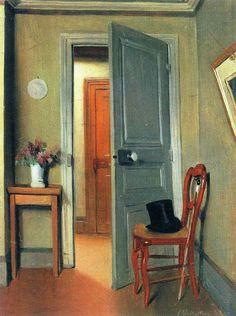 'La visite ou Le Haut-de-forme, intérieur' by Felix Vallotton, 1887. Musée Malraux, Le Havre.