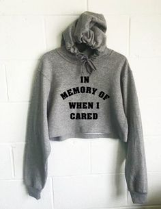 In Memory Of When I Cared Crop Hoodie