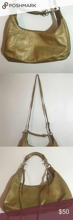 """Gold Hobo International Purse Long Strap Excellent condition. Can be worn with a small strap or much longer strap. Both can be removed. Measures approximately 7""""x13"""" HOBO Bags Shoulder Bags"""