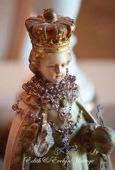 Vintage Infant of Prague Statue Priest Estate by edithandevelyn