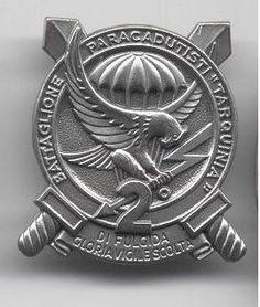 "Distintivo del 2° Btg. Paracadutisti ""Tarquinia"""