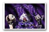 TCU - Texas Christian University  Stadium Panoramic and Photo Art Prints