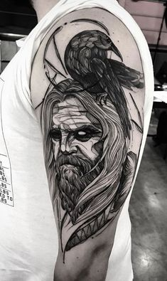 Norse God Mímir Tattoo #TattooIdeasMale