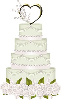 ... julie  Pinterest  White wedding cakes, Birthdays and Clip art
