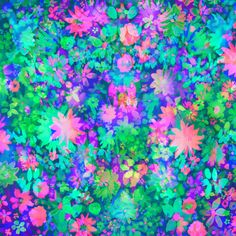 Fluro Floral by Amy Sia http://society6.com/AmySia/Fluro-Floral_Print#1=45