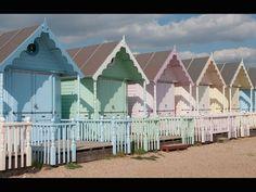 Retro pastel beach houses