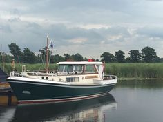 """10,20 m motoryacht """"Hendrika Adriana"""" designed and built by Akerboom Shipyard in Leiden, The Netherlands. Year 1976"""