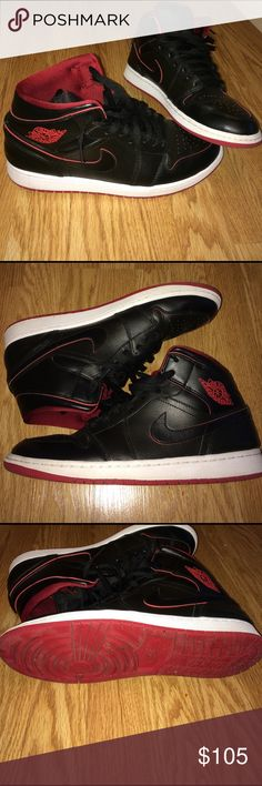 Air Jordan 1 Air Jordan 1 Mid black gym red Jordan Shoes Sneakers