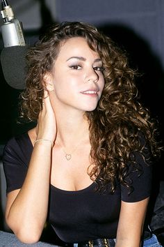 Mariah Carey's hair  - love how she used to always show off her natural curls