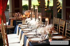 Bridal Bliss Wedding: Gorgeous Navy, Blush, and Gold details