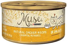Muse by Purina Natural in Gravy Wet Cat Food - (24) 3 oz. Cans , Chicken Recipe