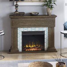 Pearl Mantels Hadley Fireplace Shelf Mantel & Reviews | Wayfair Wood Fireplace Mantel, Fireplace Shelves, Fireplace Tv Stand, Rustic Fireplaces, Mantel Shelf, Fireplace Inserts, Fireplace Surrounds, 3 Piece Dining Set, Solid Wood Dining Set