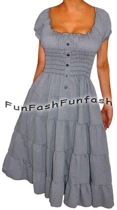 KE3 FUNFASH ROCKABILLY DENIM JEANS BLUE SLIMMING PLUS SIZE MAXI DRESS 2X 22 24 #Funfash #Dresses #Casual