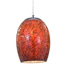 Red Glass Pendant Lights | Ariana Red Mosaic Glass Ceiling Pendant Light: SL-8069RE