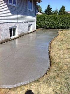 Beautiful Broom Finished Concrete Patio In London Ontario