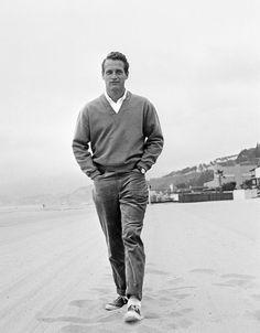"""linenforsummertweedforwinter: """" voxsart: """" Plimsolls '65. Paul Newman. """" Stroll. """""""