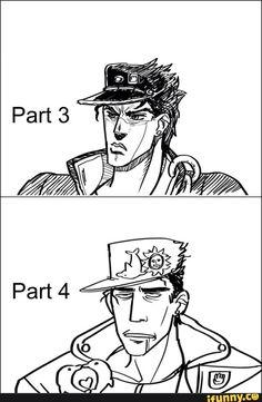 Jojo's Bizarre Adventures ☆ ジョジョ�奇妙�冒険 JoJo no Kimyou na Bouken That's exactly what happened - Jotaro Kujo - - JJBA - SDC - DIU - funny Jojo's Bizarre Adventure, Cowboy Bebop, Blue Exorcist, Inu Yasha, Jojo Parts, Jotaro Kujo, Chibi, Jojo Memes, Naruto