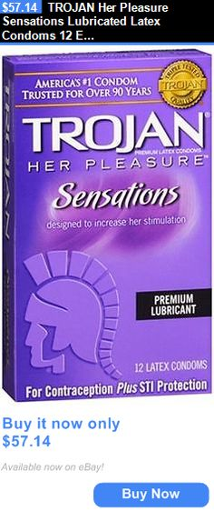 Condoms and Contraceptives: Trojan Her Pleasure Sensations Lubricated Latex Condoms 12 Each (Pack Of 8) BUY IT NOW ONLY: $57.14