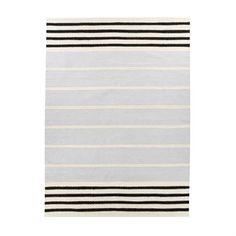 Create a timeless look in your home with Kuiskaus rug designed by Vallila Design Studio. The rug is made of a wool and cotton mix and has a classic striped pattern in black and white. The rug fits in most rooms and can easily be combined with other interior products from Vallila! Choose between different sizes.
