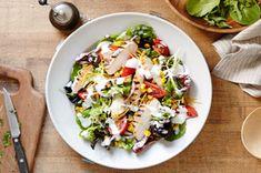 Salade au poulet barbecue et à la vinaigrette Campagne