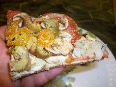 Big Raw & Vegan Blog Living Food Goodness Green Leafy Vegetables: Raw Vegan Dinner Ideas :: Pizza! Perfect Raw Pizza Crust Recipe