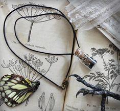 Mandragora . collier fiole poudre de racines de mandragore et encens d'église collier magie sorcellerie pagan .