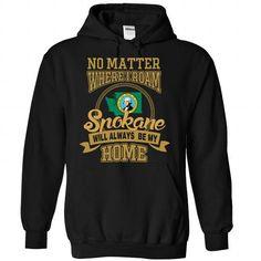 Spokane Washington Will Always Be My Home T Shirts, Hoodie. Shopping Online Now ==► https://www.sunfrog.com/States/Spokane--Washington-Will-Always-Be-My-Home-2912-Black-Hoodie.html?41382