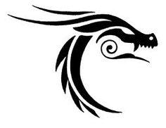 Tribal Dragon Tattoo #dragon #tattoos #tattoo