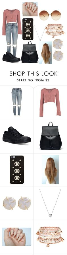 """..."" by xshalouise ❤ liked on Polyvore featuring River Island, Converse, Sole Society, MICHAEL Michael Kors, Melissa Joy Manning, Links of London, Accessorize and Linda Farrow"