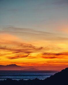 a beautiful #sunset in #cagliari #sardinia #italy