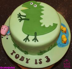 Image result for Peppa Pig George Dragon cake template | Baby boy ...