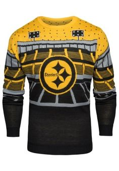 fb8eaff1402 Men s Pittsburgh Steelers Light Up Bluetooth Ugly Sweater Ugly Holiday  Sweater