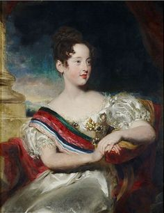 File:Queen Maria II Portugal, wife of Prince Consort Augusto (Auguste) of Portugal, he was a de Beauharnais (son of Eugene de Beauharnais, Prince of Leuchtenberg) & a Prince of Leuchtenberg, Prince of Eichstadt, Duke of Santa Cruz & grandson of Empress Josephine Bonaparte, painted in 1829