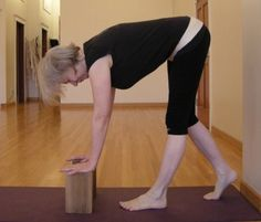 Five minute yoga challenge: strap your thigh bones and explore a forward bend - Five-Minute Yoga Iyengar Yoga, Yoga Challenge, Bones, Thighs, Challenges, Legs, Bridge, Thigh, Dice