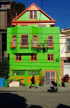 Green and Orange house