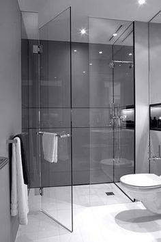 Small Bathroom Design Ideas Recommended For You. The small bathroom design photos we gathered in the list below prove that size doesn't matter. Modern Bathroom Design, Bathroom Interior Design, Modern Bathrooms, Small Bathrooms, Bath Design, Bathroom Designs, Interior Ideas, Shower Designs, Modern Interior Doors