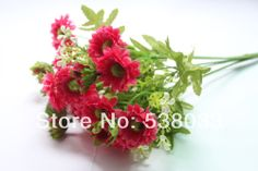 4 Bouquets 18 buds Artificial gerbera yellow rose  Silk Flower Gift  wedding home decorative  $15.99