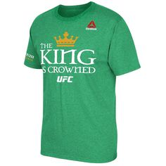 Conor McGregor UFC Reebok King Is Crowned Champion T-Shirt - Green - $29.59