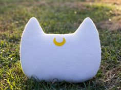 Sailor Moon Artemis Inspired Cat Head Silhouette Decorative Fleece Pillow - MADE TO ORDER