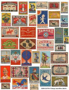 Landofnodstudio's: Free Image Friday Match Box Label Collage Sheet