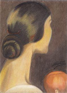 Viva el pelo de Julio Romero de Torres. Reproducción a Pastel