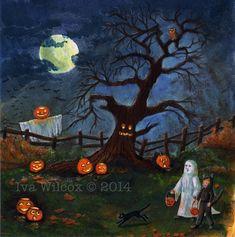 Halloween Artwork, Halloween Painting, Halloween Drawings, Halloween Prints, Halloween Pictures, Holidays Halloween, Spooky Halloween, Halloween Themes, Happy Halloween