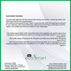 ecoSmart HUB - Sustainable Solutions