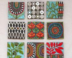 Colorful Wall Art, Modern Wall Art, Ceramica Artistica Ideas, Pottery Shop, Mosaic Wall Art, Mosaic Mirrors, Handmade Tiles, Wall Art Sets, Wall Sculptures