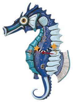 seahorse clock