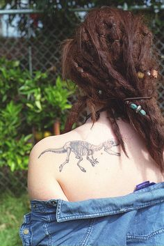 If you show me your dinosaur tattoo, we will be instant friends. Promise.