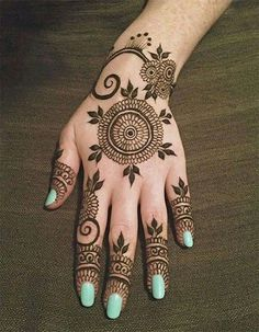 Indian Simple Henna Mehndi Designs